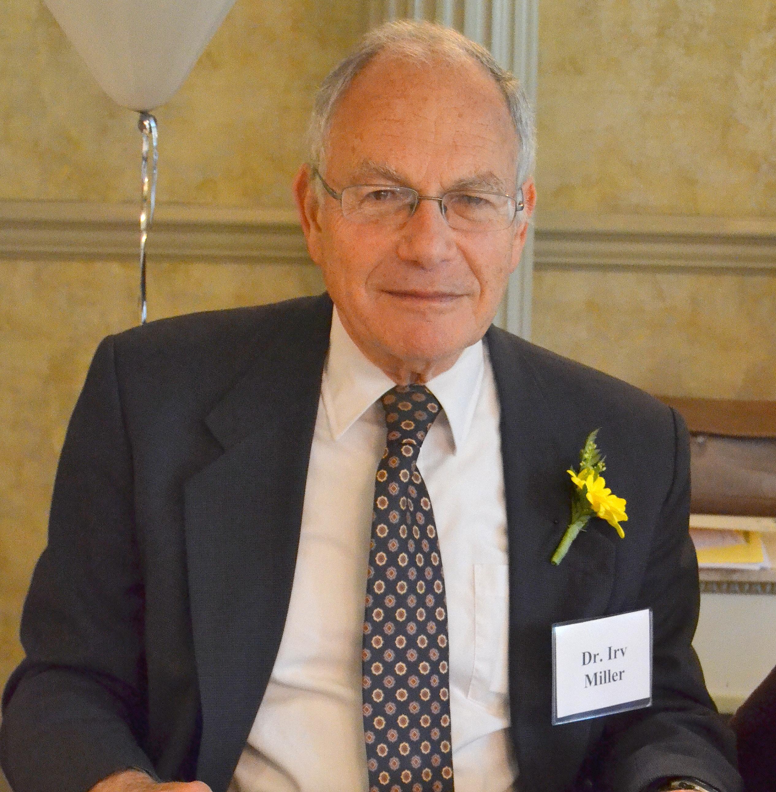 Dr. Irv Miller - 2016 Male Senior Citizen of the Year