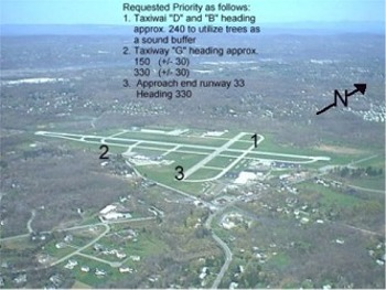 Image delineating Airport Taxiways