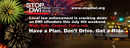 July 4th Stop DWI logo