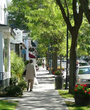 Tree lined street - walkable communities