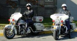 Motorcycle patrol unit officers