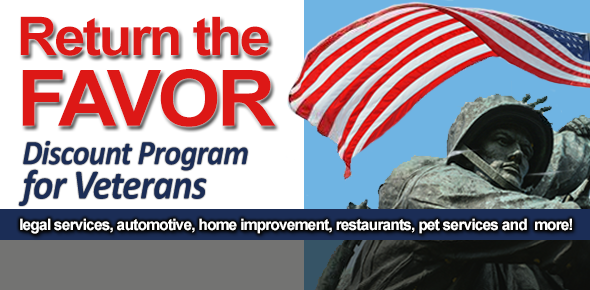 Return the Favor Discount Programs for Veterans - Enroll to receive local merchant discounts