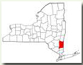 NYS Map delineating Dutchess County